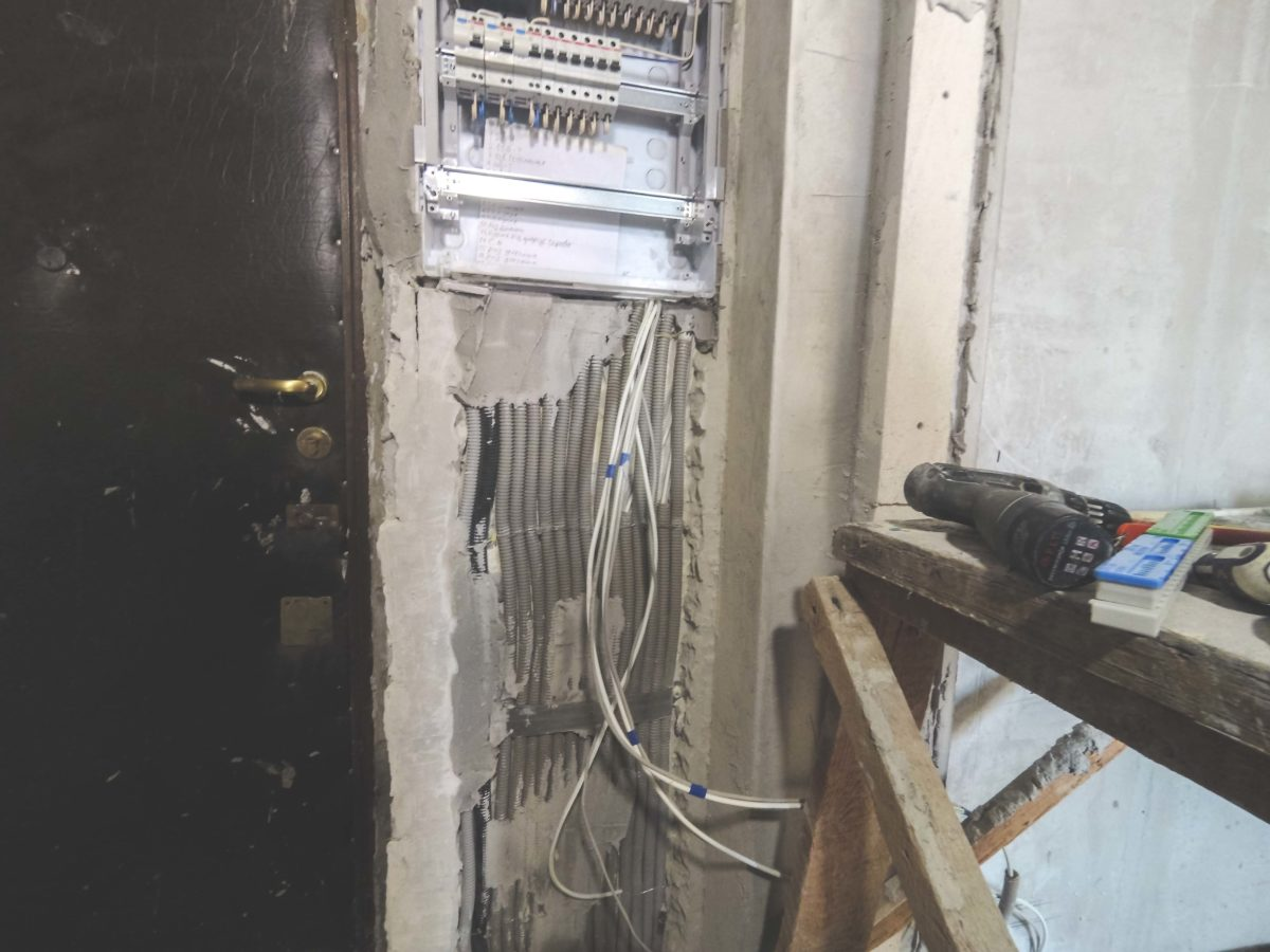 электрический щиток в двухкомнатной квартире