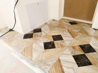 Укладка плитки на Березовой аллее